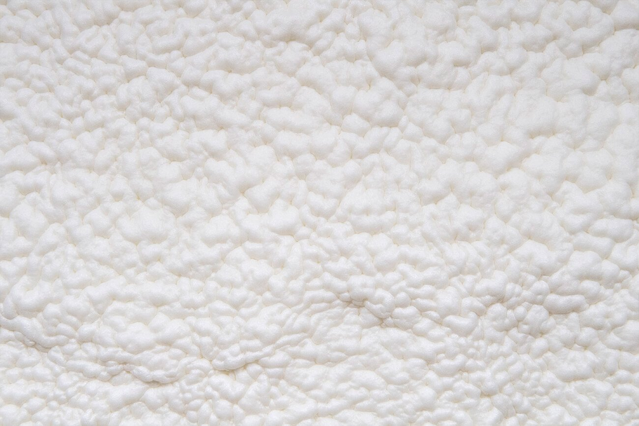 The texture of polyurethane foam